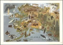 Alaska Map by Alaska W D Berry Copyright Griffins Alaska 1967 David