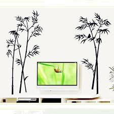 compare prices on chinese wall decor online shopping buy low chinese style black high quality bamboo wall sticker pvc removable art decal mural home office room