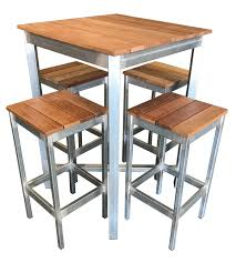 Steel Patio Furniture Sets by Beer Garden Outdoor Furniture Set 5 Piece Galvanised Steel Timber