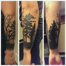 tattoos org forest silhouette half sleeve eric diversity