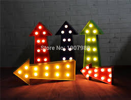 led lights for dorm arrow led marquee sign light up vintage inspired marquee light neon