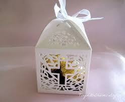 baptism party favors religious party favor boxes made by silhouette search