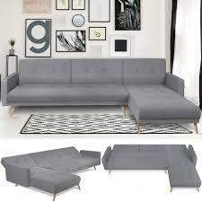 canapé d angle gris canapé d angle convertible helge réversible gris scandinave meuble
