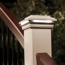 trex post cap lights trex deck lighting offers low profile recessed lights for subtle