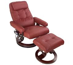 8 motor heated reclining massage chair and footrest u2014 qvc com