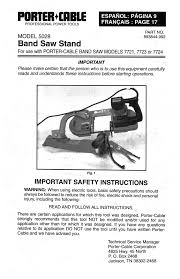 porter cable saw 7721 user guide manualsonline com