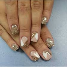 65 examples of nail art design nails white glitter and