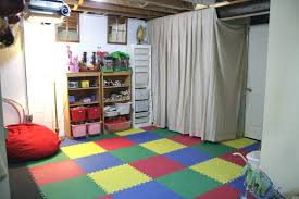 unfinished basement playroom ideas convenient basement playroom