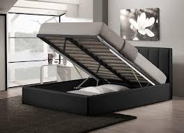 full size upholstered platform bed with storage add upholstered