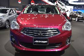 mitsubishi attrage engine mitsubishi attrage front at 2017 bangkok international motor show