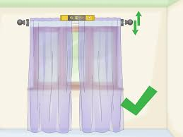 2 5 Inch Curtain Rings by How To Hang Curtains 15 Steps With Pictures Wikihow