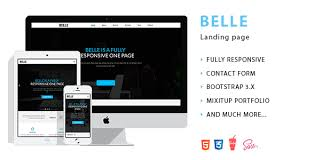 belle landing page html template by oleko themeforest