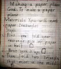 how to write numbers in a paper procedural text the fun genre how to make a paper plane once finished i asked for volunteers to share their procedural text with the class and invited the teacher next door to use one of their procedural texts
