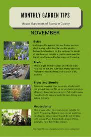 monthly gardening tips spokane county washington state university
