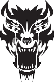 tribal vector element with tiger royalty free stock image