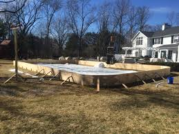 Backyard Rink Liner by Backyard Ice Rinks Backyard Rink Time To Tear It Down For Spring