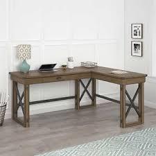 rustic l shaped desk wildwood rustic grey l shape desk