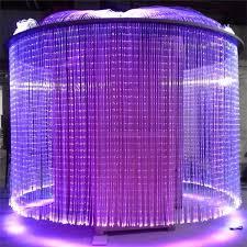 fiber optic waterfall light curtain wall fiber optic lighting