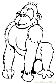 coloring page of gorilla gorilla06 coloring page free gorilla pages quirky beanie boo 6 15256