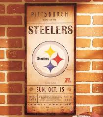 steelers home decor pittsburgh steelers nfl classic ticket wall art picture sign