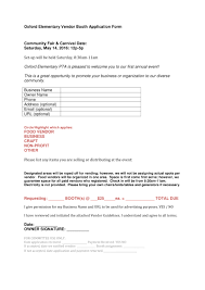 Sample Booth Rental Agreement 8 20 Application Form Samples For Job Events Businesses And