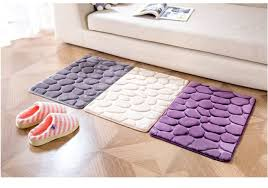 Memory Foam Rugs For Bathroom Coral Fleece Bathroom Memory Foam Rug Kit Toilet Pattern Bath Non