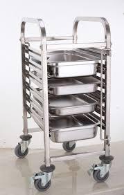 baking pan rack hand push type trolley wholesale stainless steel