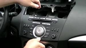mazda 3 2011 mazda 3 2010 original radio unit removal youtube