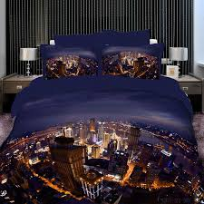 Best Quality Duvets City Oil Printing Luxury 4pc Bedding Set 3d Bedclothes Bed Linen