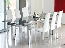 dining table modern extendable dining table with glass top and