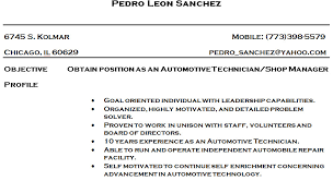 Hvac Technician Resume Examples by Download Automotive Mechanical Engineer Sample Resume