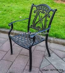 outdoor metal furniture cast aluminum chair bronze color garden