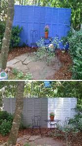 Ideas For Fencing In A Garden Diy Garden Ideas On A Budget Shutter Fence Garden Fencing Ideas