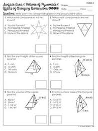 free surface area and volume of prisms with effects of changing