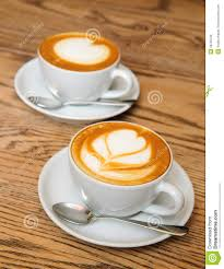 Cappuccino Cups by Two Cappuccino Cups Royalty Free Stock Images Image 29759739