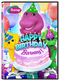 happy birthday barney new to video on april 15