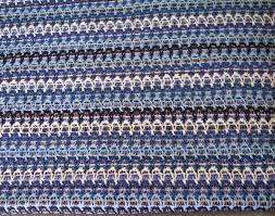 sweater fabric blue zig zag stripe sweater knit fabric scrap pony