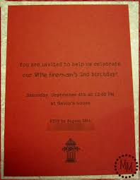 fire truck party invites the scrap shoppe