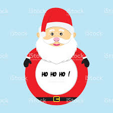 merry frame santa claus vector illustration isolated