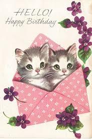 cats singing happy birthday card jerzy decoration