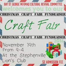 christmas craft fair fundraiser u2013 qalipu
