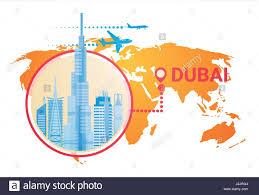 world map city in dubai dubai skyline panorama world map modern building cityscape