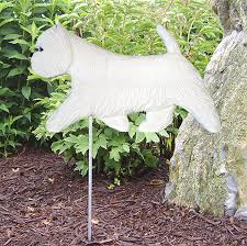 westie terrier outdoor garden sign painted figure