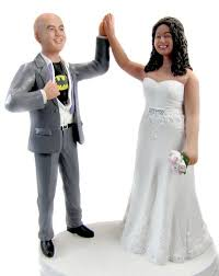 high five cake topper custom groom high five cake topper