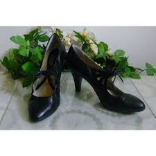 Naturalizer Heels Comfortable Naturalizer N5 Comfort Soft Black Leather High Heel Shoes Size 10m