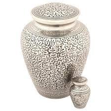 cremation urn leaves of silver keepsake urn