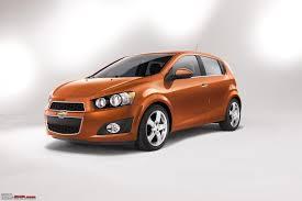chevy sonic aveo hatchback sedan unveiled team bhp