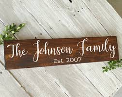 Personalized Wood Signs Home Decor Wood Wall Decor Etsy