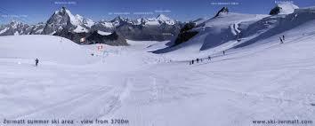 Zermatt Matterhorn Summer Skiing And Snowboarding On The Glaciers