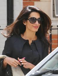 is amal clooney hair one length amal alamuddin hair amal alamuddin gets her hair done at the